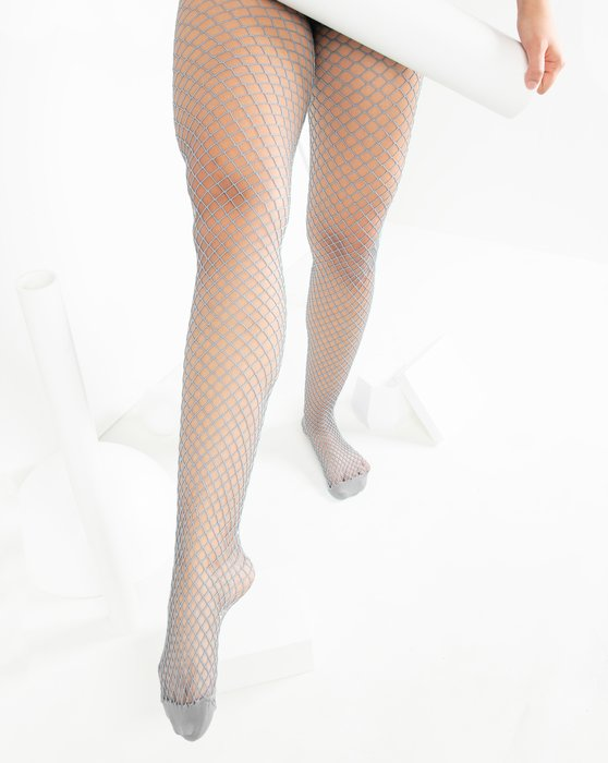 Light-Grey Womens Wide Mesh Fishnet Pantyhose Style# 1403 | We Love Colors