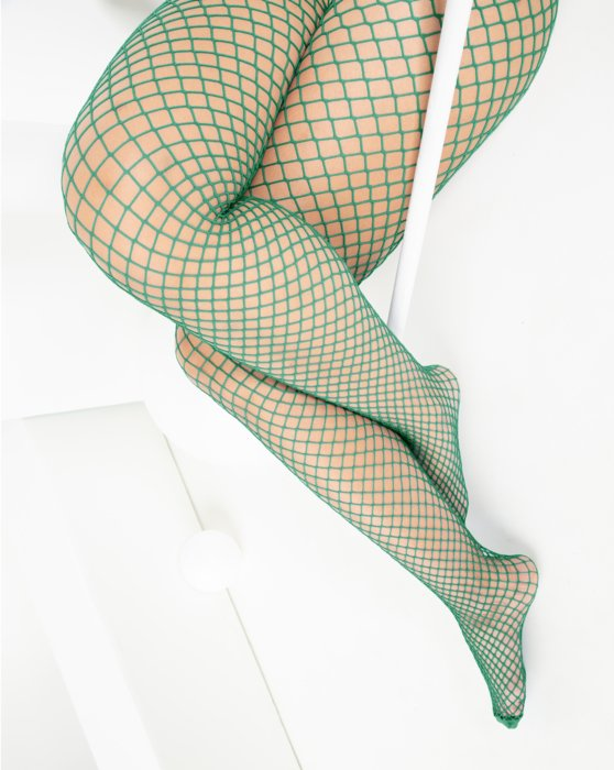 Scout Green Wide Mesh Fishnet Pantyhose Style# 1403 | We Love Colors