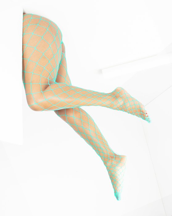 Pastel-Mint Womens Diamondnet Fishnet Style# 1405 | We Love Colors