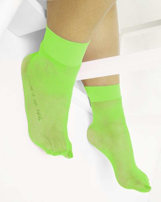 Neon-Green Womens Fishnet Anklet Style# 1429 | We Love Colors