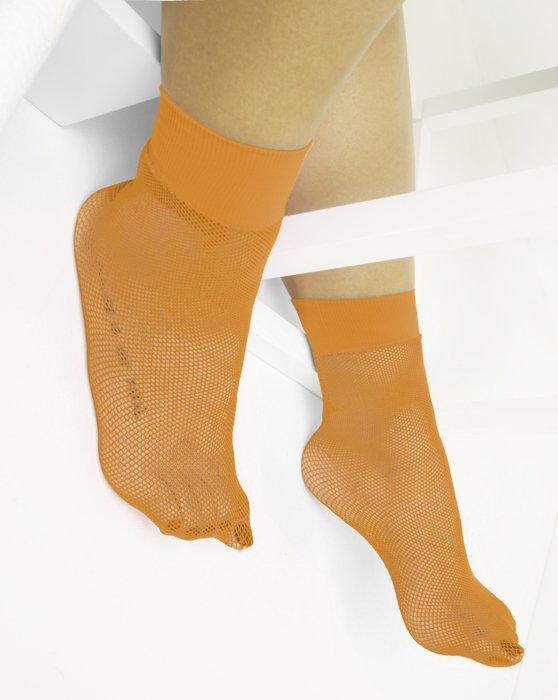 Neon-Orange Womens Fishnet Anklet Style# 1429 | We Love Colors