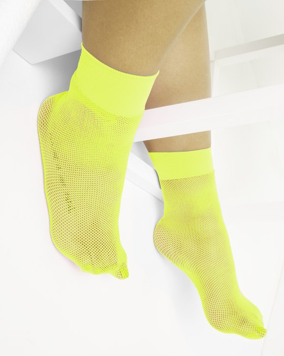 Neon Yellow Womens Fishnet Anklet Style# 1429 | We Love Colors