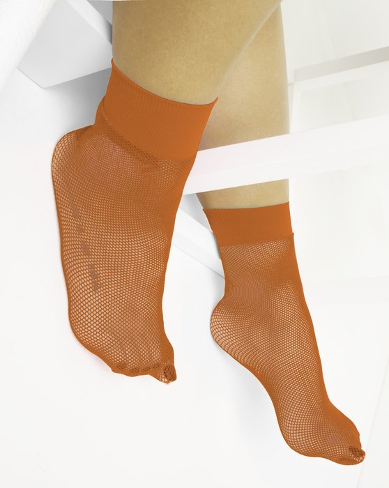 Orange Womens Fishnet Anklet Style# 1429 | We Love Colors