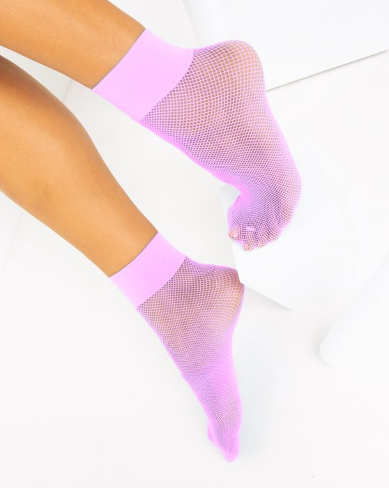 Orchid Pink Fishnet Anklet Style# 1429 | We Love Colors