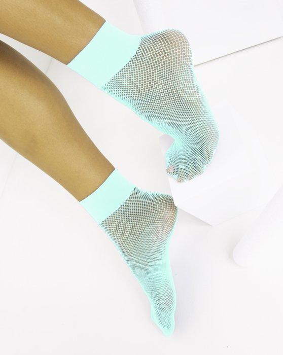 Pastel Mint Womens Fishnet Anklet Style# 1429 | We Love Colors