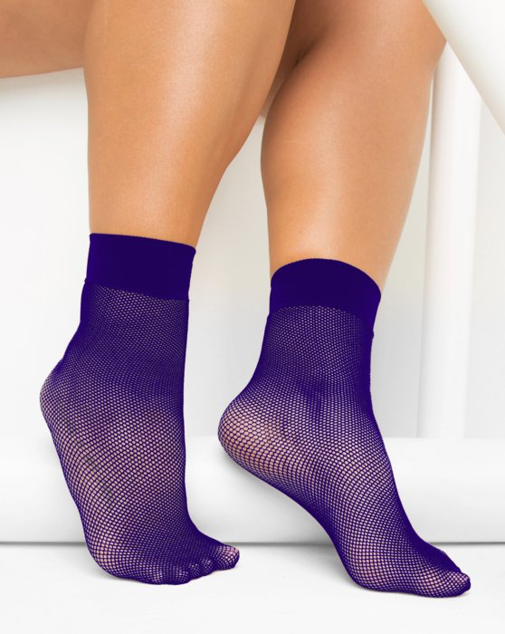 Purple Fishnet Anklet Style# 1429 | We Love Colors