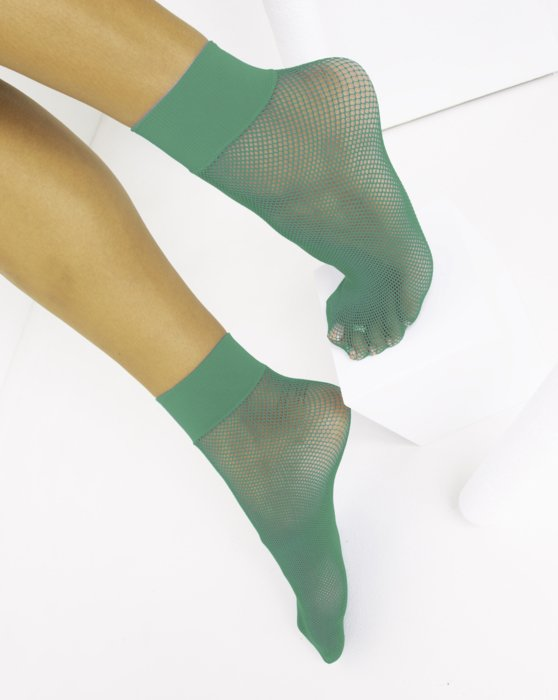 Scout-Green Womens Fishnet Anklet Style# 1429 | We Love Colors