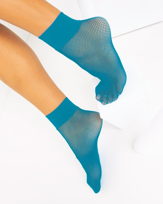 Turquoise Fishnet Anklet Style# 1429 | We Love Colors