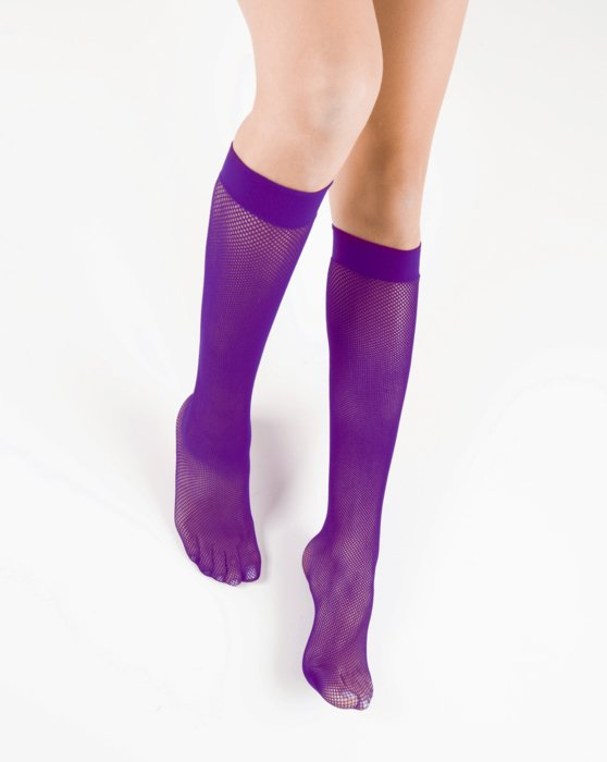 Amethyst Womens Fishnet Knee Highs Style# 1431 | We Love Colors