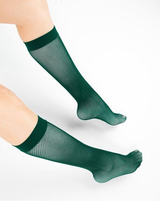 Hunter-Green Womens Fishnet Knee Highs Style# 1431   We Love Colors