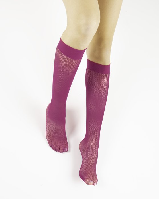 Fuchsia Womens Fishnet Knee Highs Style# 1431 | We Love Colors