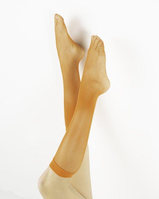 Orange Womens Fishnet Knee Highs Style# 1431 | We Love Colors