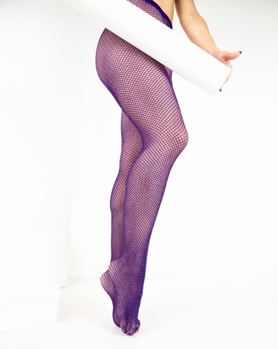 Purple Womens Lurex Glitter Fishnet Style# 1451 | We Love Colors