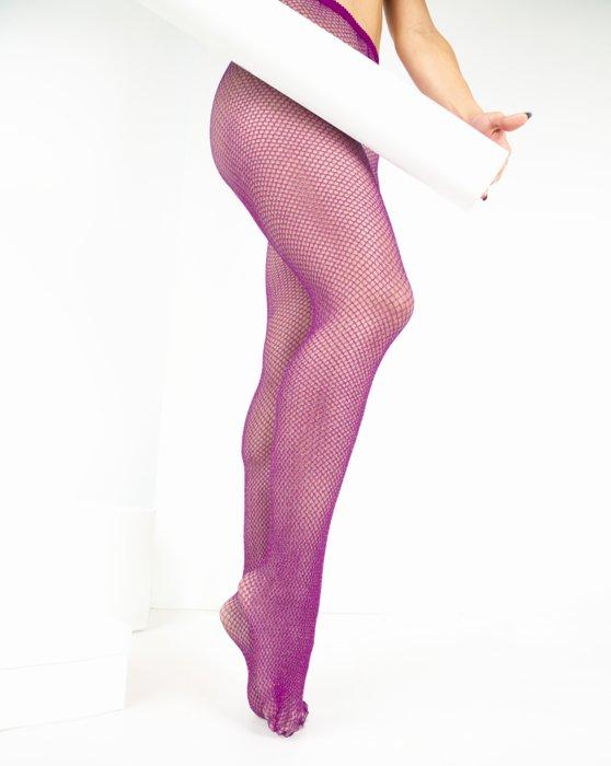 Rubine Lurex Glitter Fishnet Style# 1451 | We Love Colors
