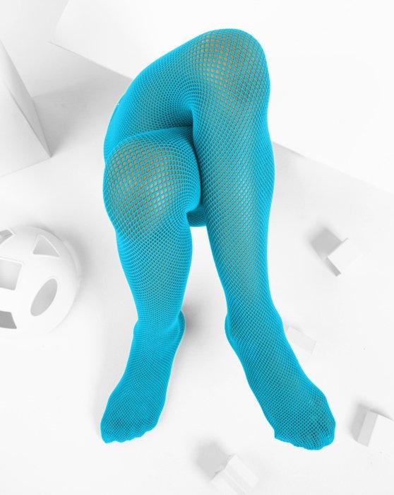 Neon-Blue Kids Fishnet Pantyhose Style# 1471 | We Love Colors