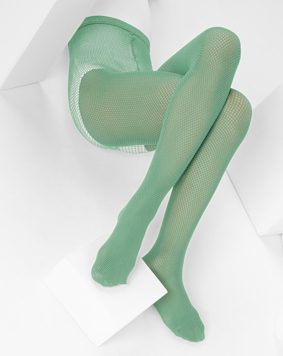 Scout-Green Kids Fishnet Pantyhose Style# 1471 | We Love Colors
