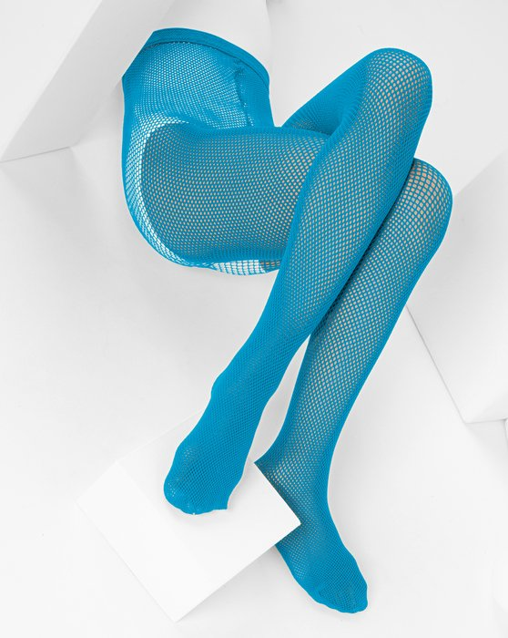 Turquoise Kids Fishnet Pantyhose Style# 1471 | We Love Colors