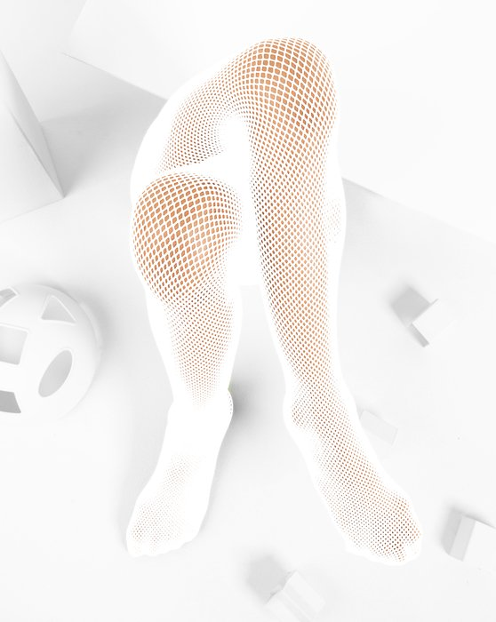 White Kids Fishnet Pantyhose Style# 1471 | We Love Colors