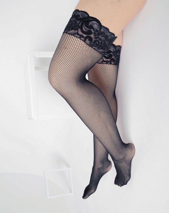 Charcoal Womens Over The Knee Fishnets Style# 1485 | We Love Colors