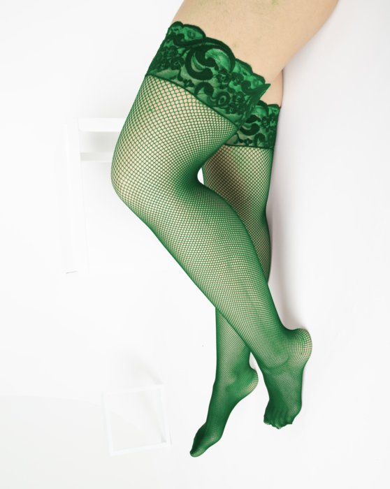Emerald Over The Knee Fishnets Style# 1485 | We Love Colors