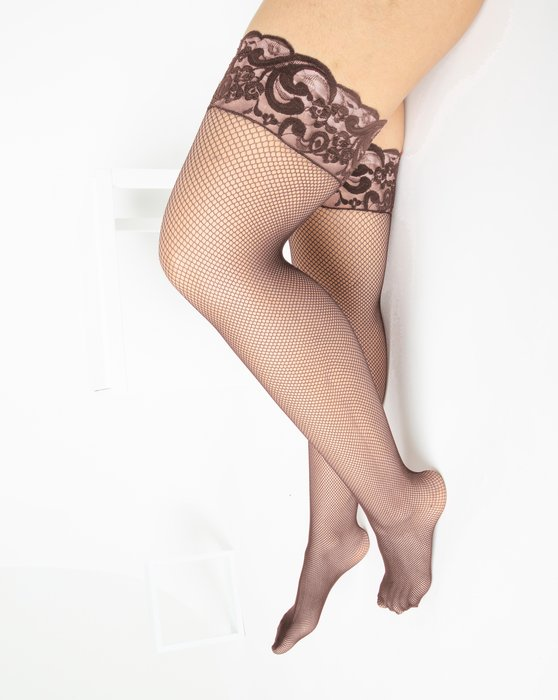 Mocha Over The Knee Fishnets Style# 1485 | We Love Colors