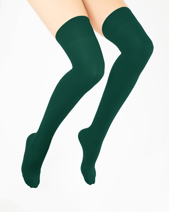 Hunter Green Thigh Highs Style# 1501   We Love Colors