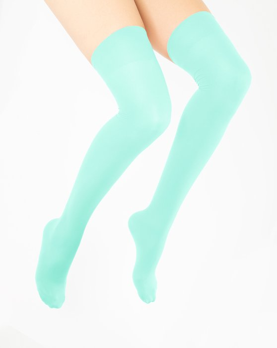 Pastel-Mint Womens Thigh Highs Style# 1501 | We Love Colors