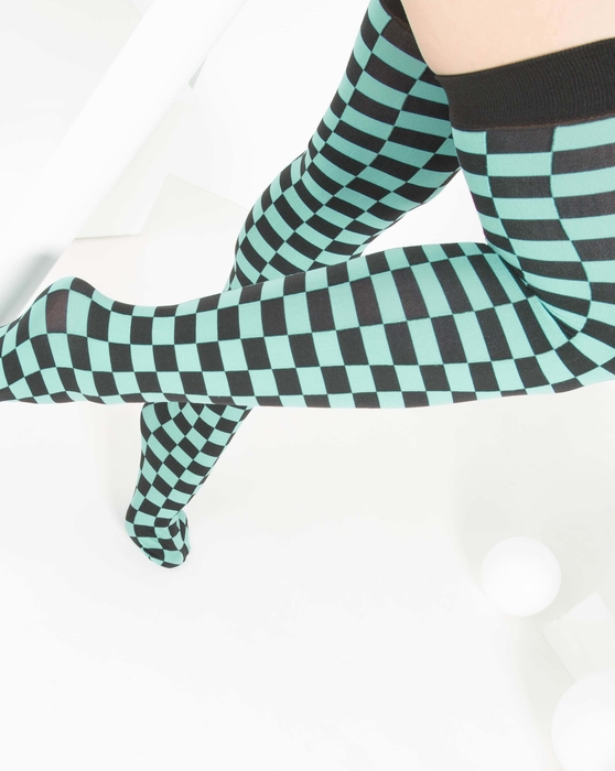 Scout-Green Womens Checkerboard Thigh Highs Style# 1507 | We Love Colors