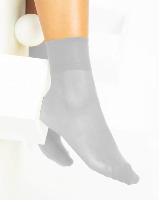 Light-Grey Womens Sheer Anklet Style# 1527 | We Love Colors