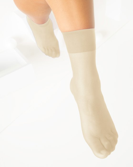 Light-Tan Womens Sheer Anklet Style# 1527 | We Love Colors