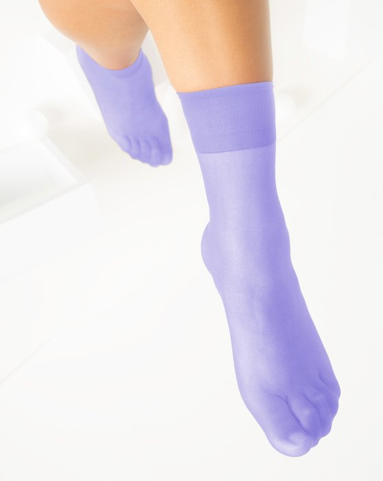 Lilac Womens Sheer Anklet Style# 1527 | We Love Colors