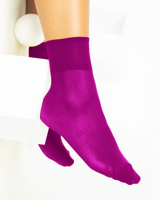 Magenta Womens Sheer Anklet Style# 1527 | We Love Colors