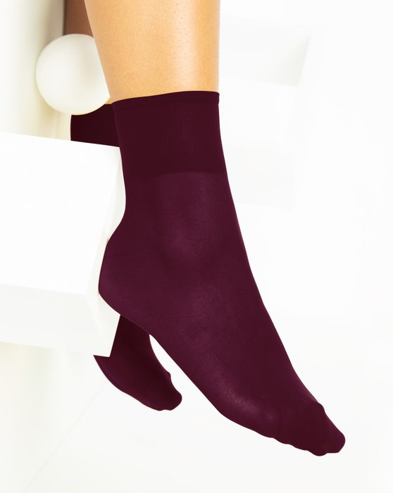 Maroon Womens Sheer Anklet Style# 1527 | We Love Colors