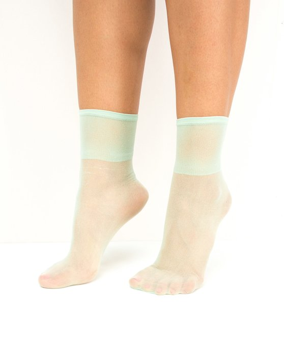 Mint-Green Womens Sheer Anklet Style# 1527 | We Love Colors