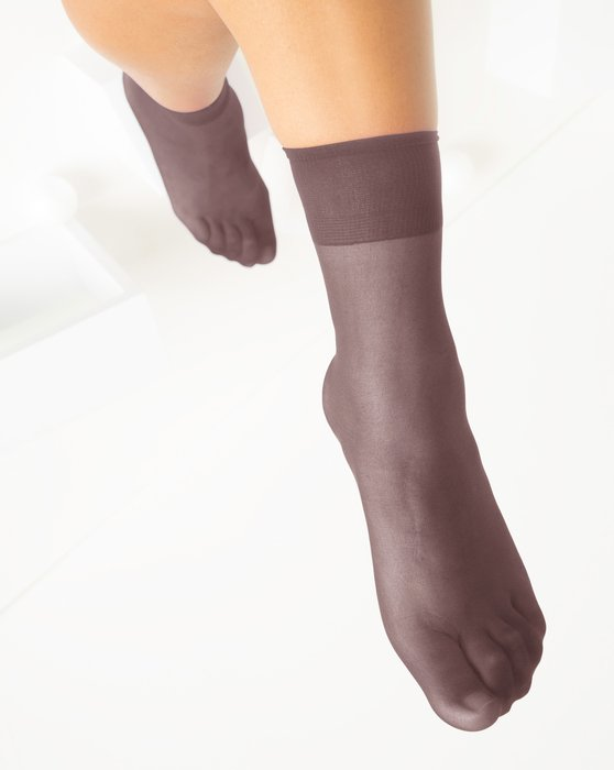 Mocha Womens Sheer Anklet Style# 1527   We Love Colors