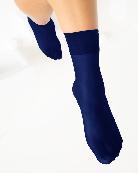 Navy Womens Sheer Anklet Style# 1527 | We Love Colors
