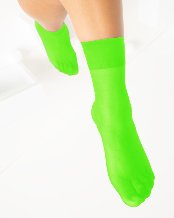 Neon-Green Womens Sheer Anklet Style# 1527 | We Love Colors