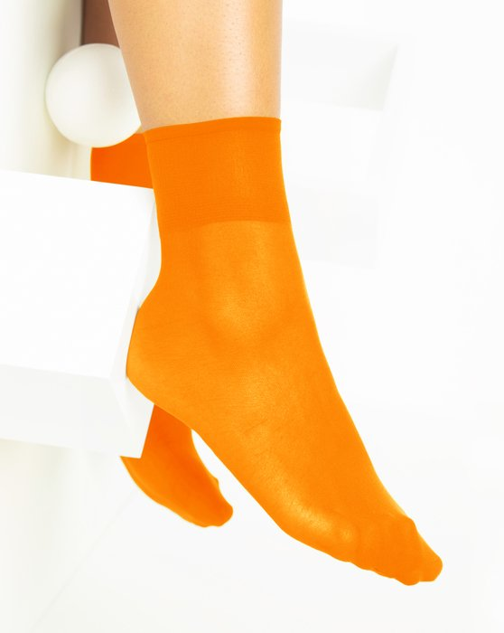 Neon-Orange Womens Sheer Anklet Style# 1527 | We Love Colors