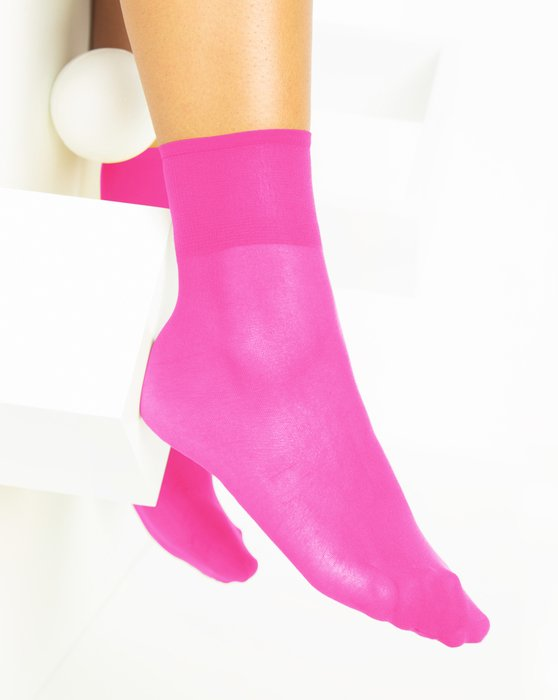 Neon-Pink Womens Sheer Anklet Style# 1527 | We Love Colors