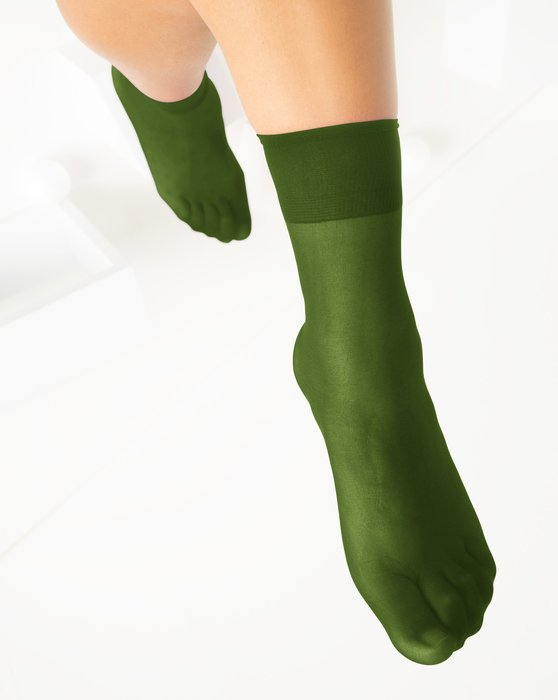 Olive-Green Womens Sheer Anklet Style# 1527 | We Love Colors