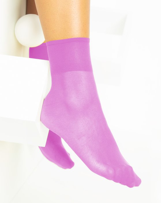 Orchid-Pink Womens Sheer Anklet Style# 1527 | We Love Colors