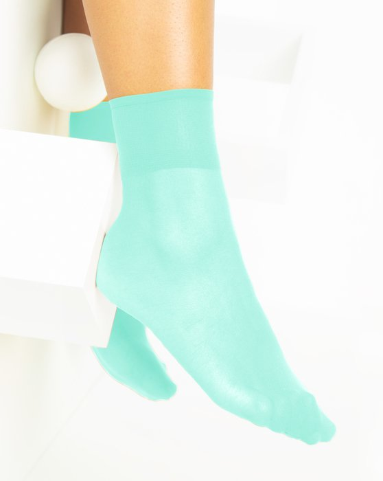 Pastel-Mint Womens Sheer Anklet Style# 1527 | We Love Colors