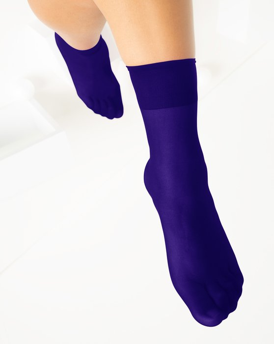 Purple Womens Sheer Anklet Style# 1527 | We Love Colors