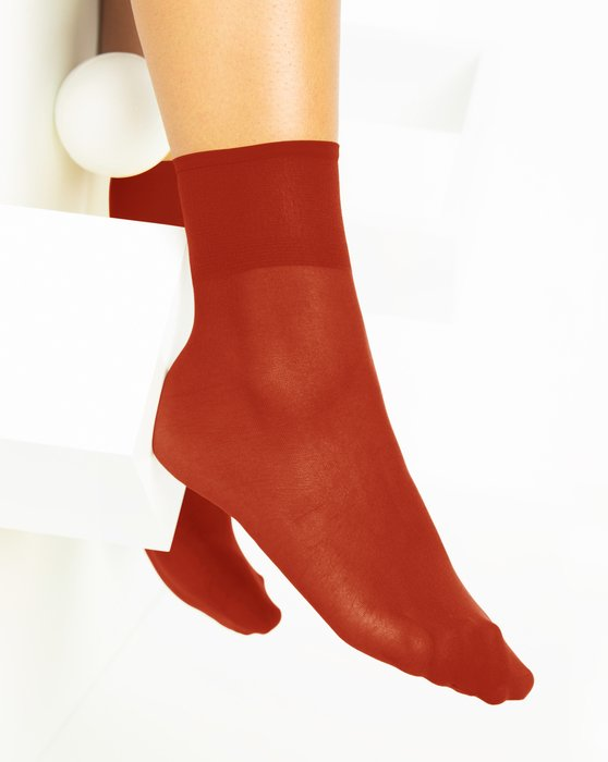 Rust Womens Sheer Anklet Style# 1527 | We Love Colors