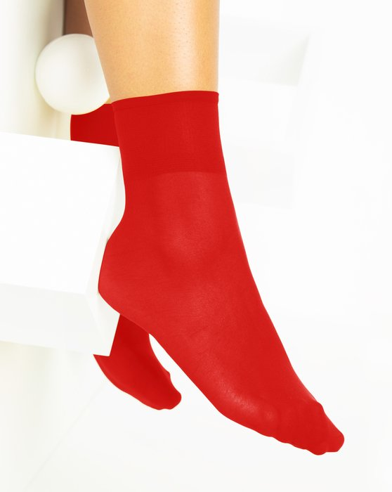 Scarlet-Red Womens Sheer Anklet Style# 1527 | We Love Colors