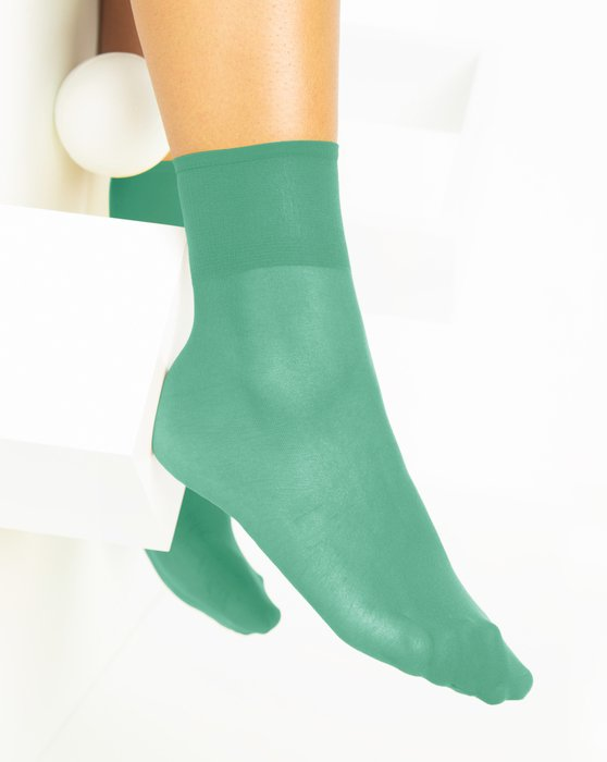 Scout-Green Womens Sheer Anklet Style# 1527 | We Love Colors
