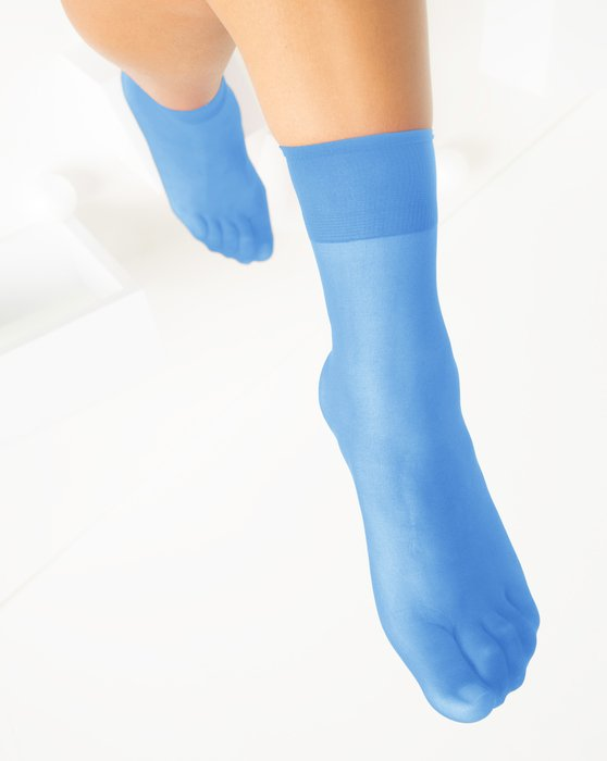 Sky Blue Womens Sheer Anklet Style# 1527 | We Love Colors