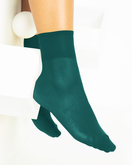 Spruce-Green Womens Sheer Anklet Style# 1527 | We Love Colors