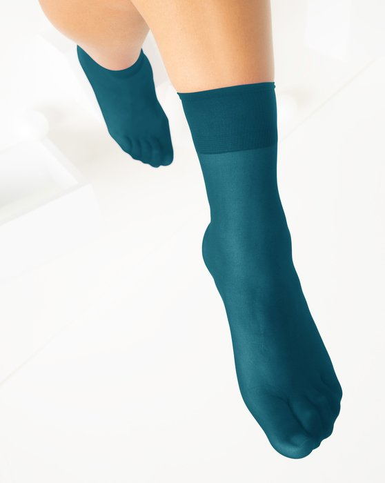 Teal Womens Sheer Anklet Style# 1527 | We Love Colors