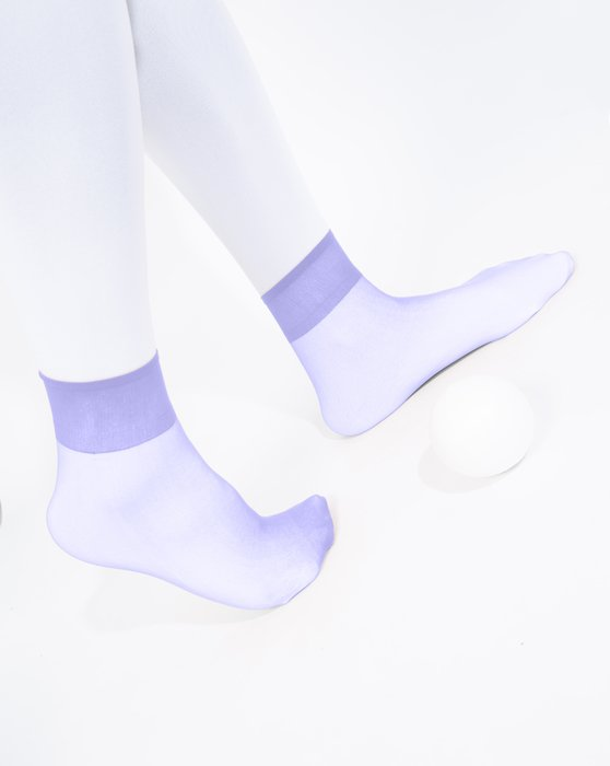 Lilac Sheer Anklet Style# 1528 | We Love Colors